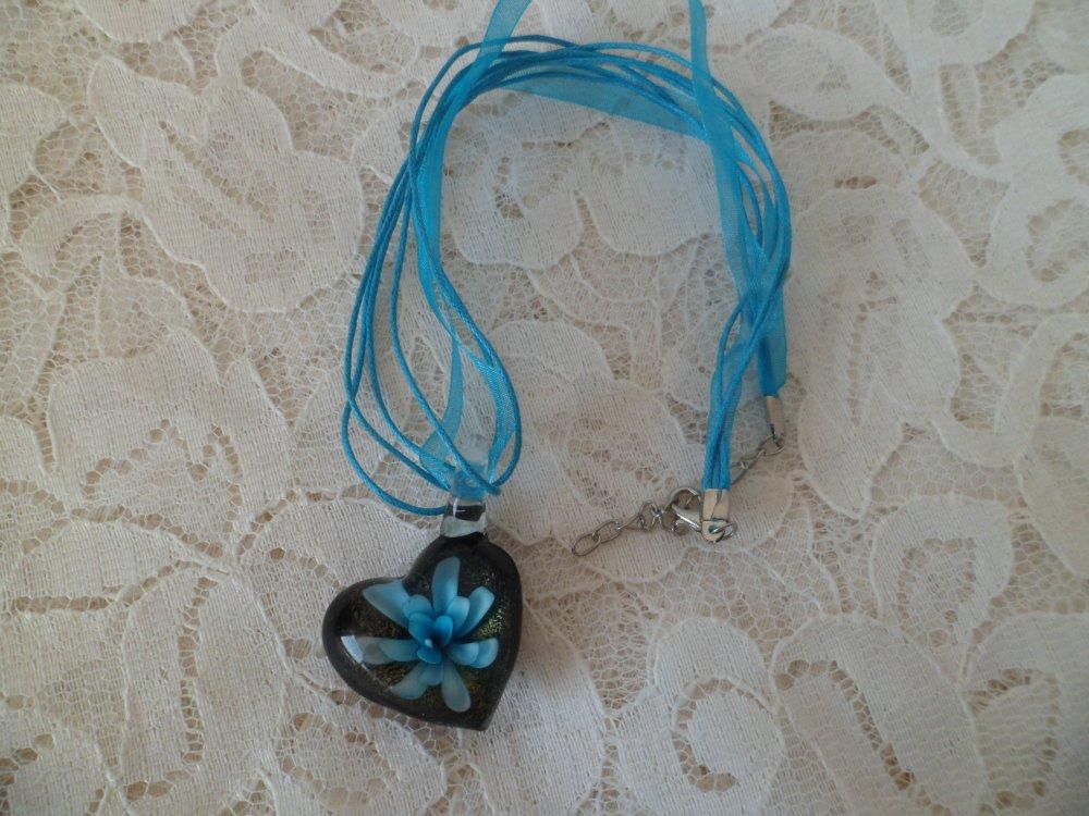 Collier Cœur en verre