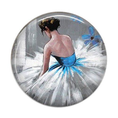 Cabochon résine 25mm ballerine danseuse - 02