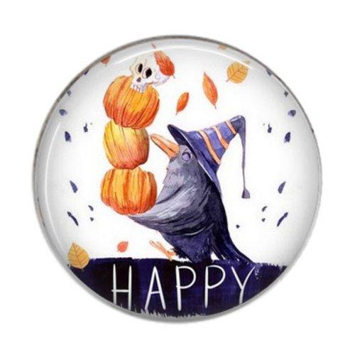Pendentif / cabochon rond résine 20 ou 25 mm, happy halloween 03