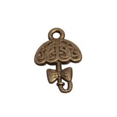 bronze 5 breloques//pendentifs parapluie ant