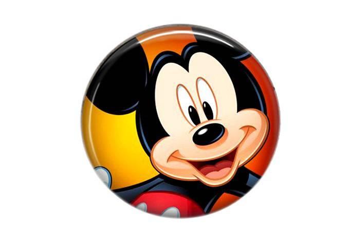 Cabochon résine Mickey rond 25mm 05
