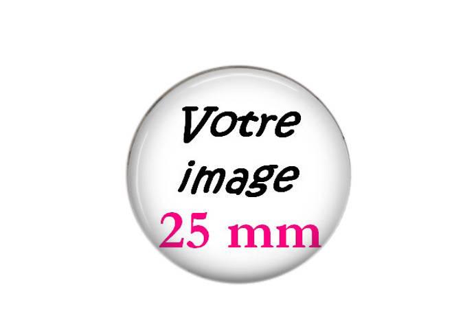 Cabochon rond résine 25mm Personnalisable photo/image au choix