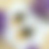 Boucles d'oreilles soleil jaune, demi lune bronze, style ethnique