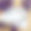 Chaîne de cheville en acier inoxydable, feuille, chevrons émail violet prune