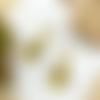 Boucles d'oreilles éventail, émail jaune