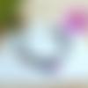 Bracelet tissu fleuri, sequin émaillé, rose, bleu, idée cadeau