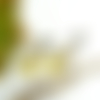 Boucles d'oreilles clips jaune et bronze