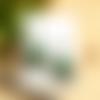 Boucles d'oreilles rosace bronze, sequin vert sapin, idée cadeau