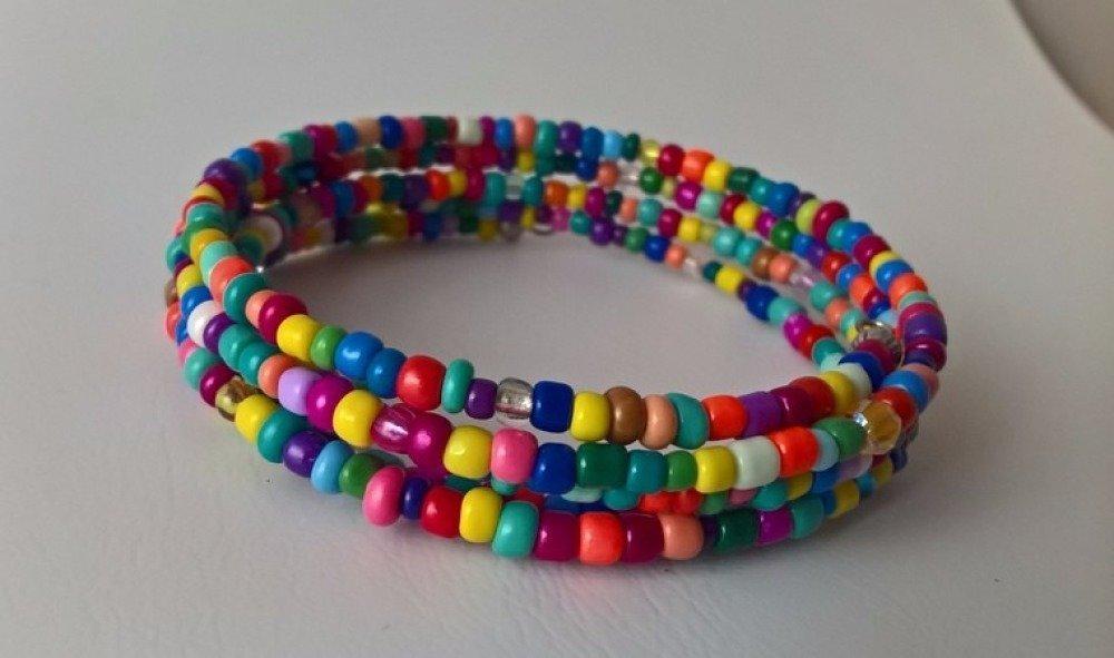 bracelet fil de mémoire & perles