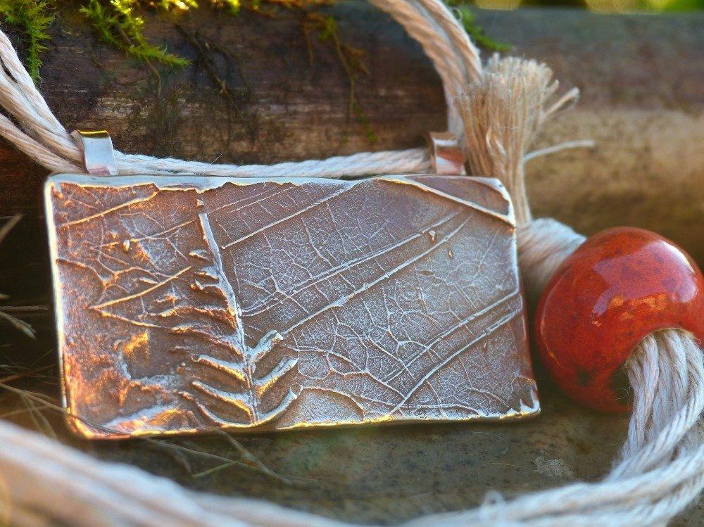 "Pendentif en bronze ""paysage"""
