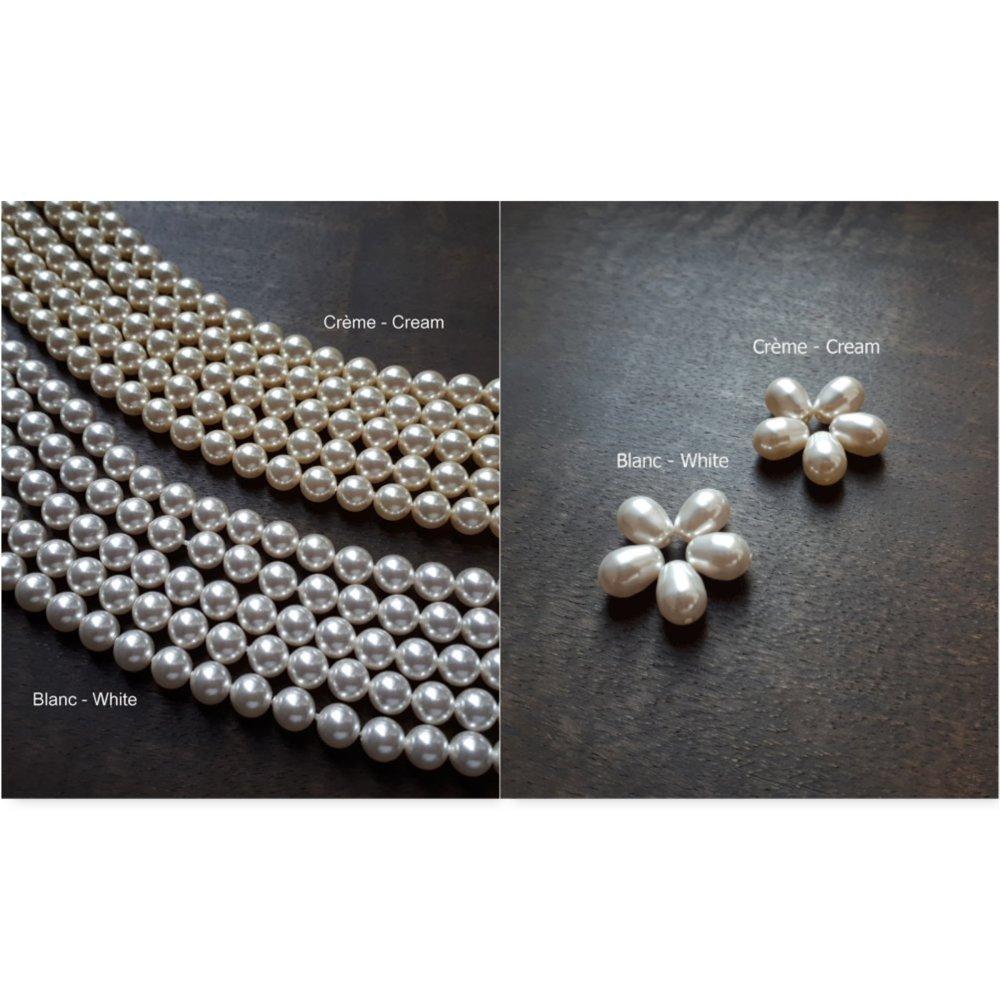 Tina - Boucles d'oreilles doré rose avec perles poires swarovski pour mariage minimalisté et élégant chic