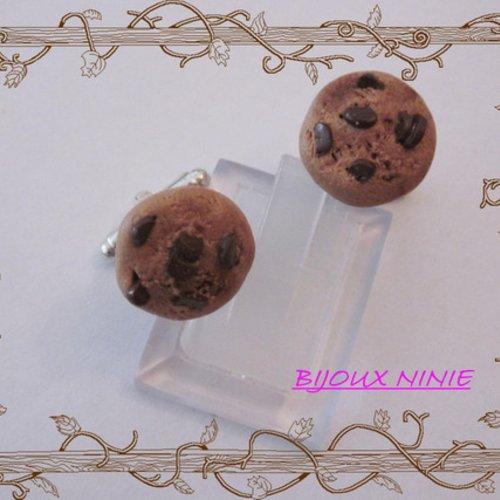 Boutons de manchette biscuit cookie en fimo