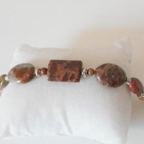Bracelet opale péruvienne unakite tagua une touche d´élégance au quotidien
