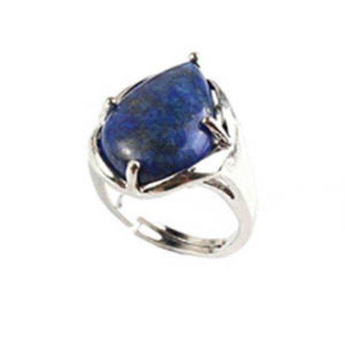 Bague lapis lazuli réglable à votre doigt