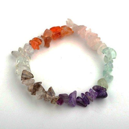 Bracelet chips multicolore chakra