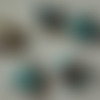 """Lot """"maldives 3"""" de 10 perles de papier ovales turquoises, 5 paires idéales pour concevoir des boucles d'oreilles fantaisies"""