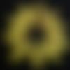"""Lot """"jaune poussin"""" de 10 perles de papier jaunes ovales ( idéales pour concevoir des boucles d'oreilles originales )"""
