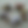 """Lot """"rio"""" de 10 perles de papier ovales multicolores vernies façon """"triple gloss"""""""