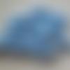 """Lot """" vichy bleu"""" de 8 perles de papier recyclé d'enveloppe"""