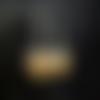 """Boucles argentées de perles de carton vernies """"old el paso"""" et de perles de rocaille noires et de coupelles """"feuilles"""" argentées"""