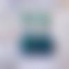 Pendants bohèmes, paon irisé bleu et vert