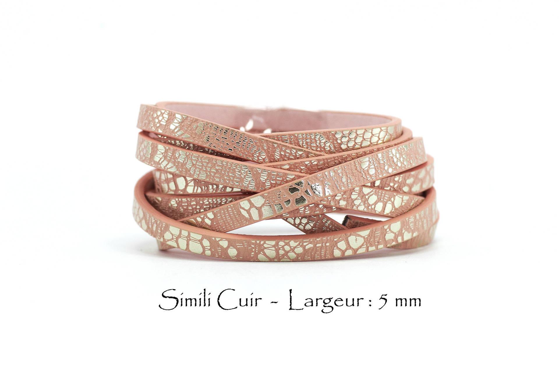 5 mètres rose en cuir véritable cordon 2mm