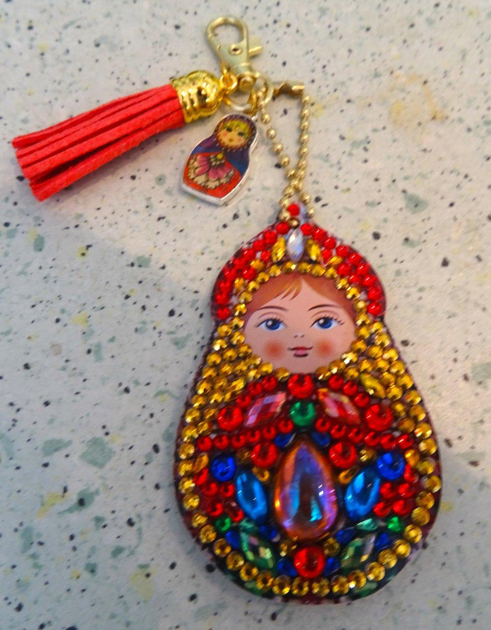 bijou de sac , Matriochka, broderie diamant 2