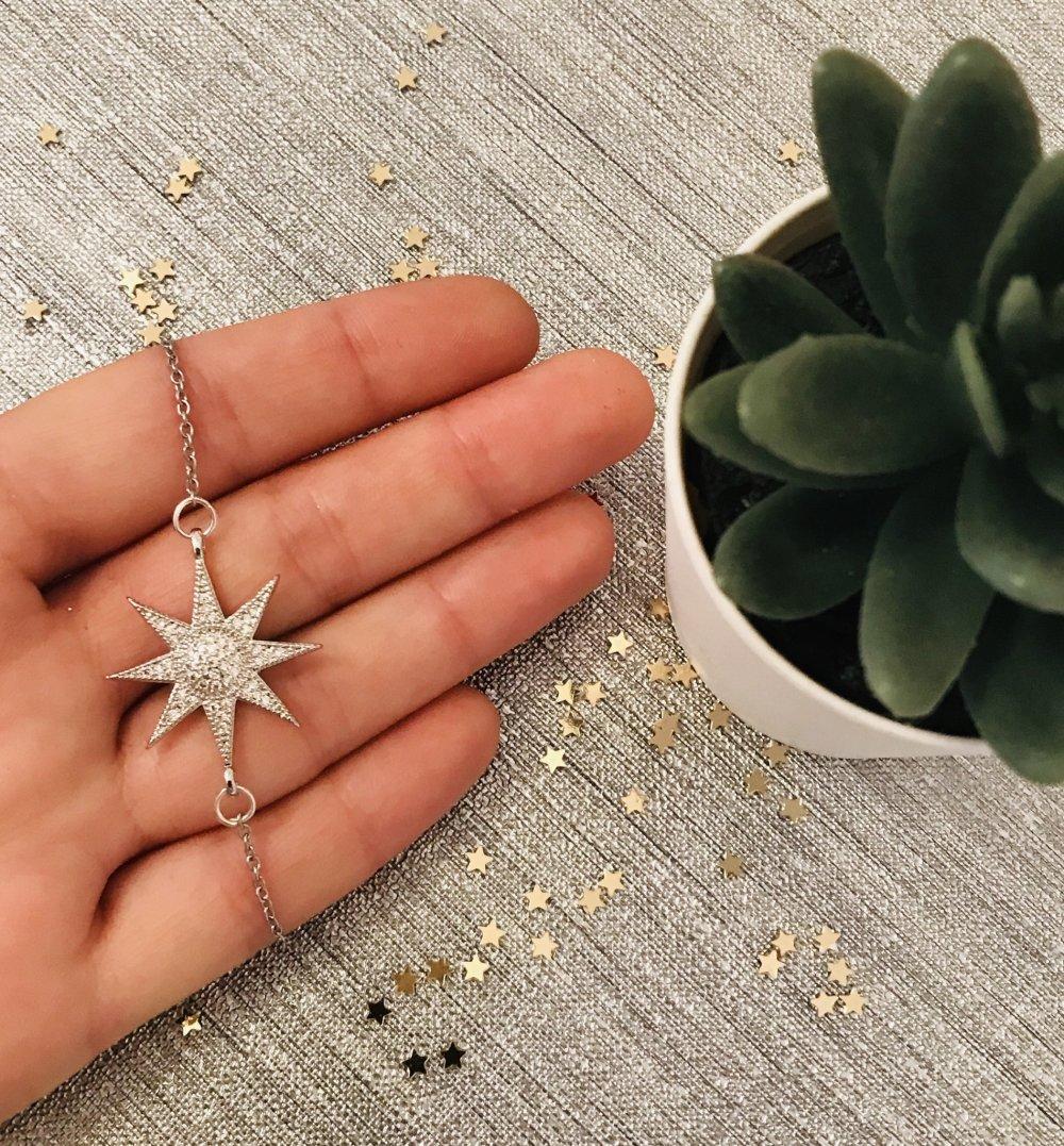 Bracelet étoile argentée