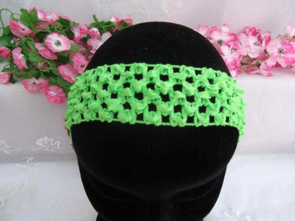 1 Serre tête Bandeau Vert Fluo
