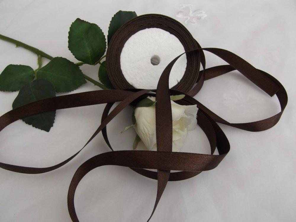 5m de ruban satin chocolat foncé 12.5mm