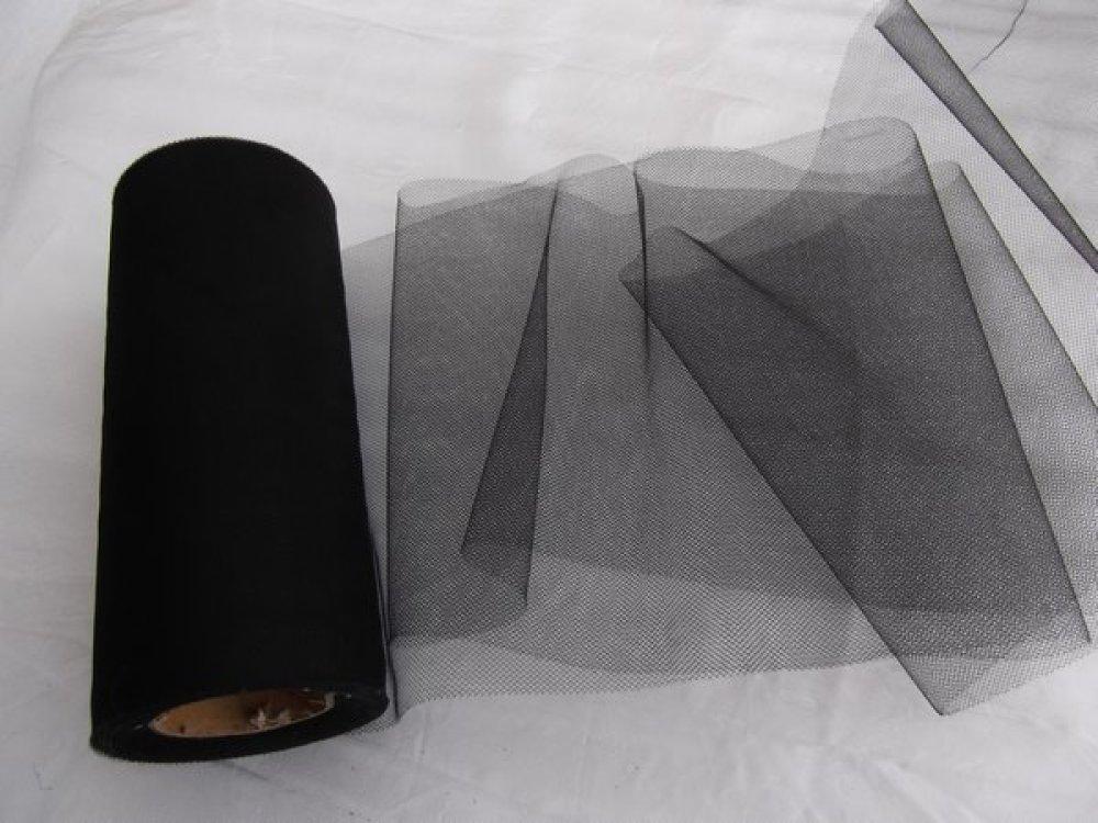 1m de tulle petite maille noir largeur 15cm