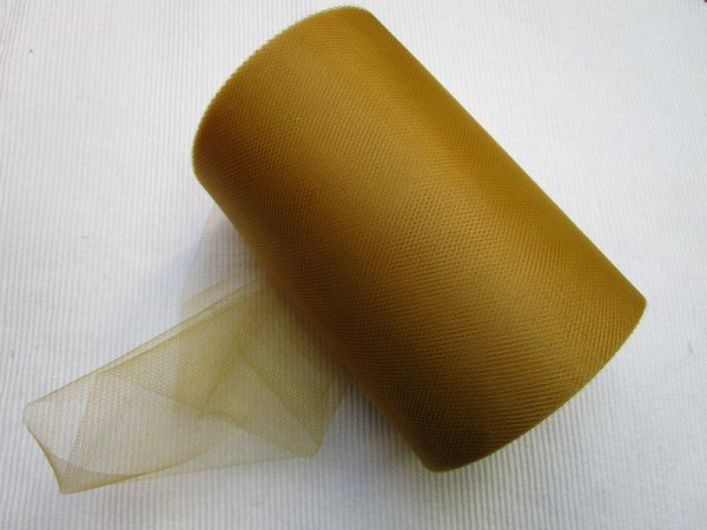 1m de tulle petite maille or largeur 15cm