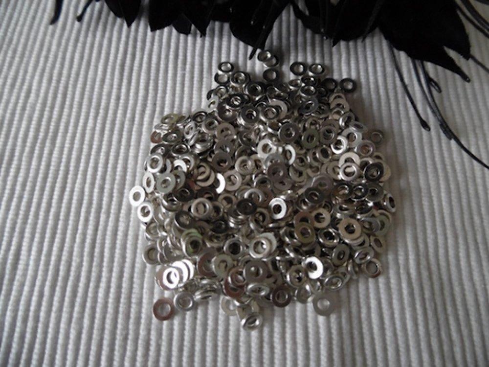 Lot de 30 rondelles de 6mm Trou de 2.4mm anneaux fermés Argent Tibétain