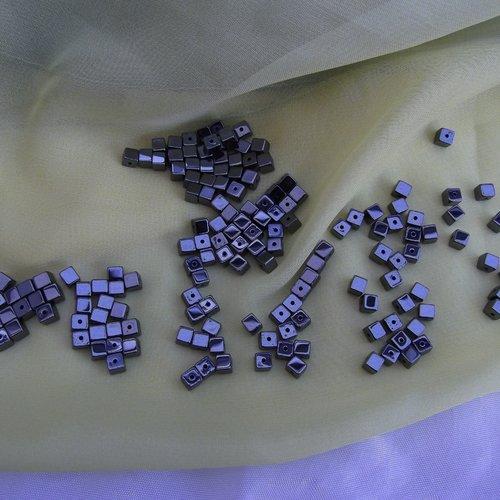 500 perles Cube Bois ciré 5 mm+//