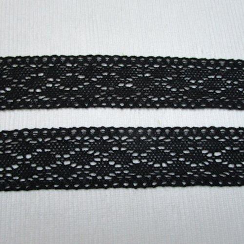 1m de dentelle guipure coton noire 4cm souple