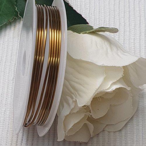 Bobine 1.5m fils de cuivre bronze 1mm