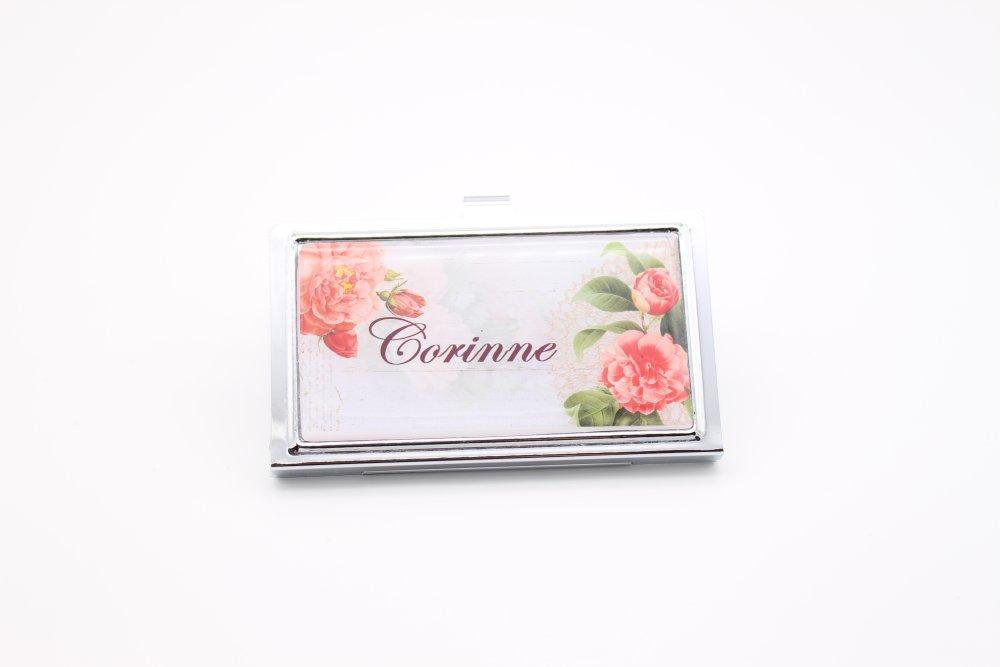 Boitier carte bancaire personnalisable prénom romantique