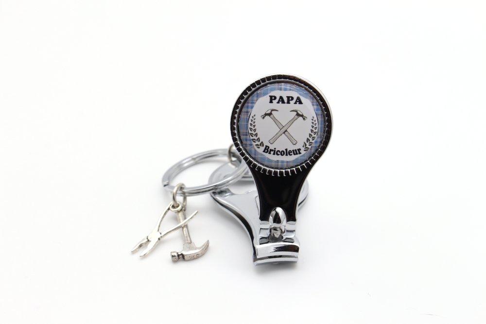 Porte clé papa bricoleur décapsuleur coupe ongle