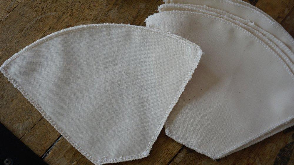 Filtre à café N°4 en coton bio, lavables et réutilisables, zéro déchet