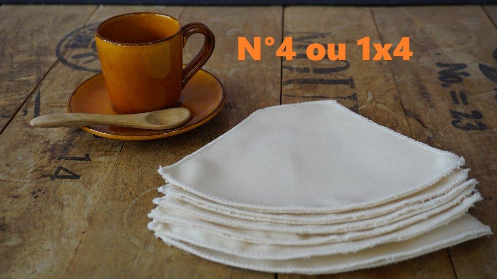 Lot de 2 filtres à café en coton bio, lavables et réutilisables, zéro déchet