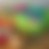 Charlotte couvre bol, coton enduit, zéro déchet, motif  feuillage