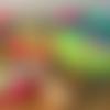 Charlotte pour saladier, coton enduit, zéro déchet, motif feuillage