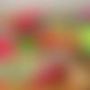 Charlotte couvre plat à tarte, ou grand saladier, coton enduit, zéro déchet, motif feuillage