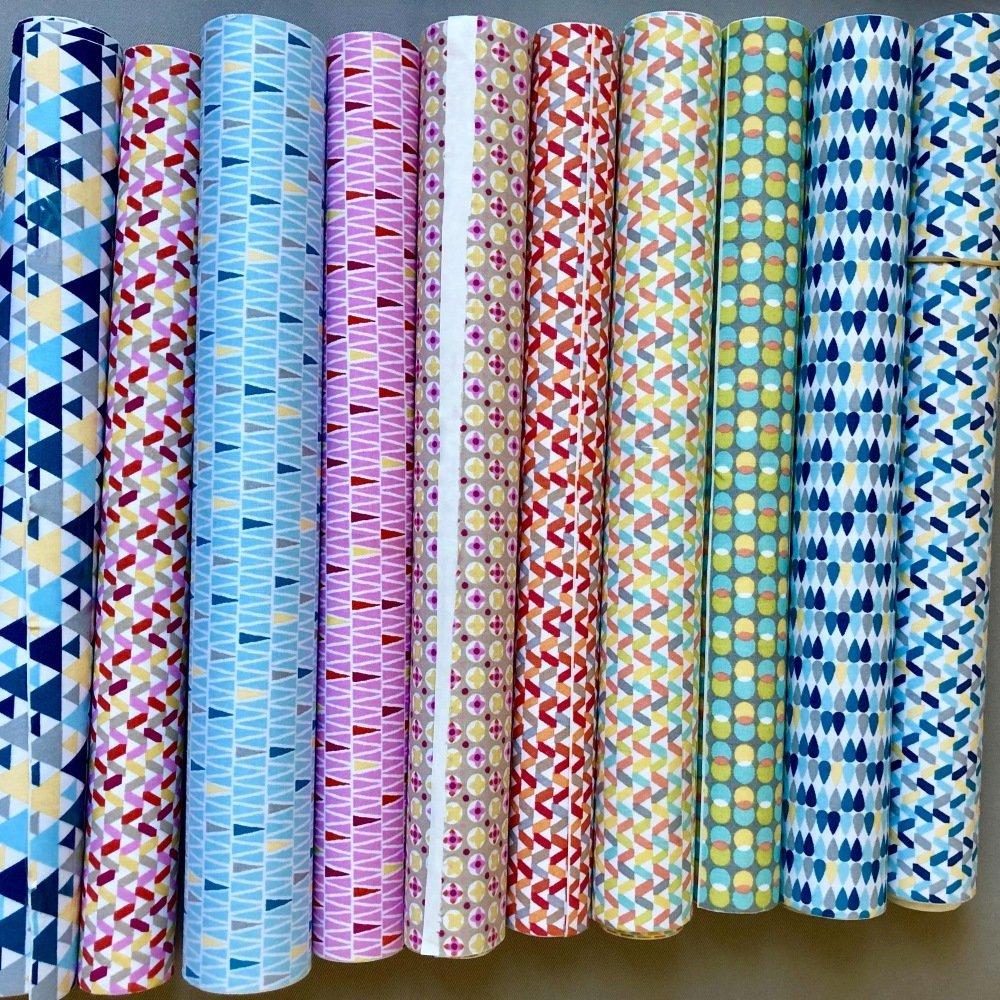 Tissu adhésif motifs géométriques