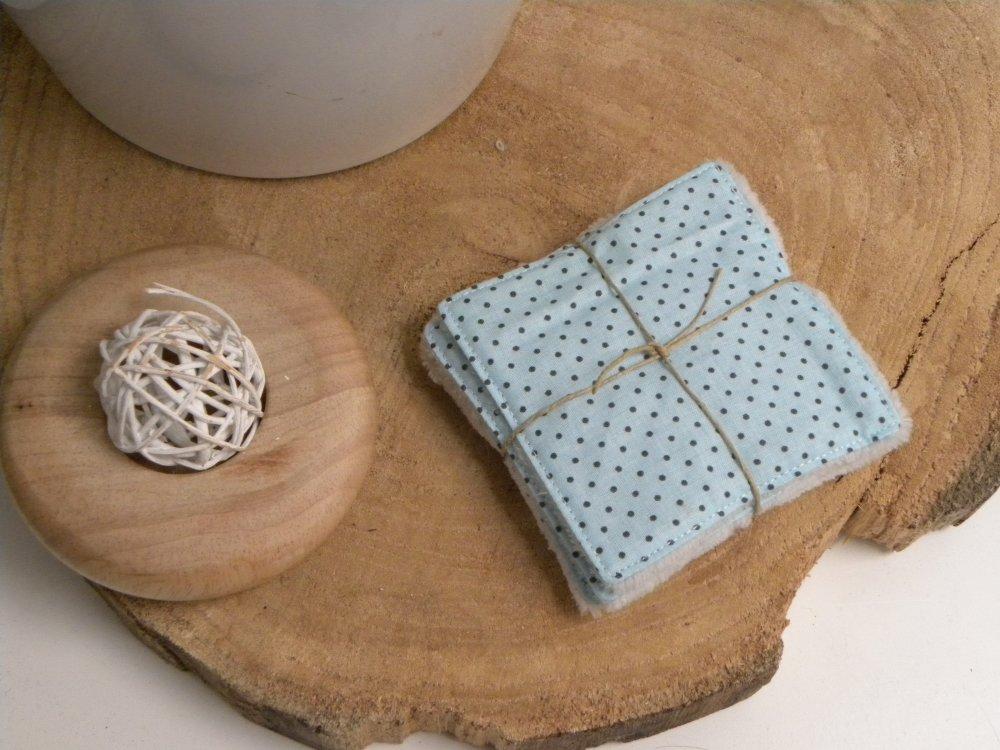 lot de 5 cotons à démaquiller extra doux carrés