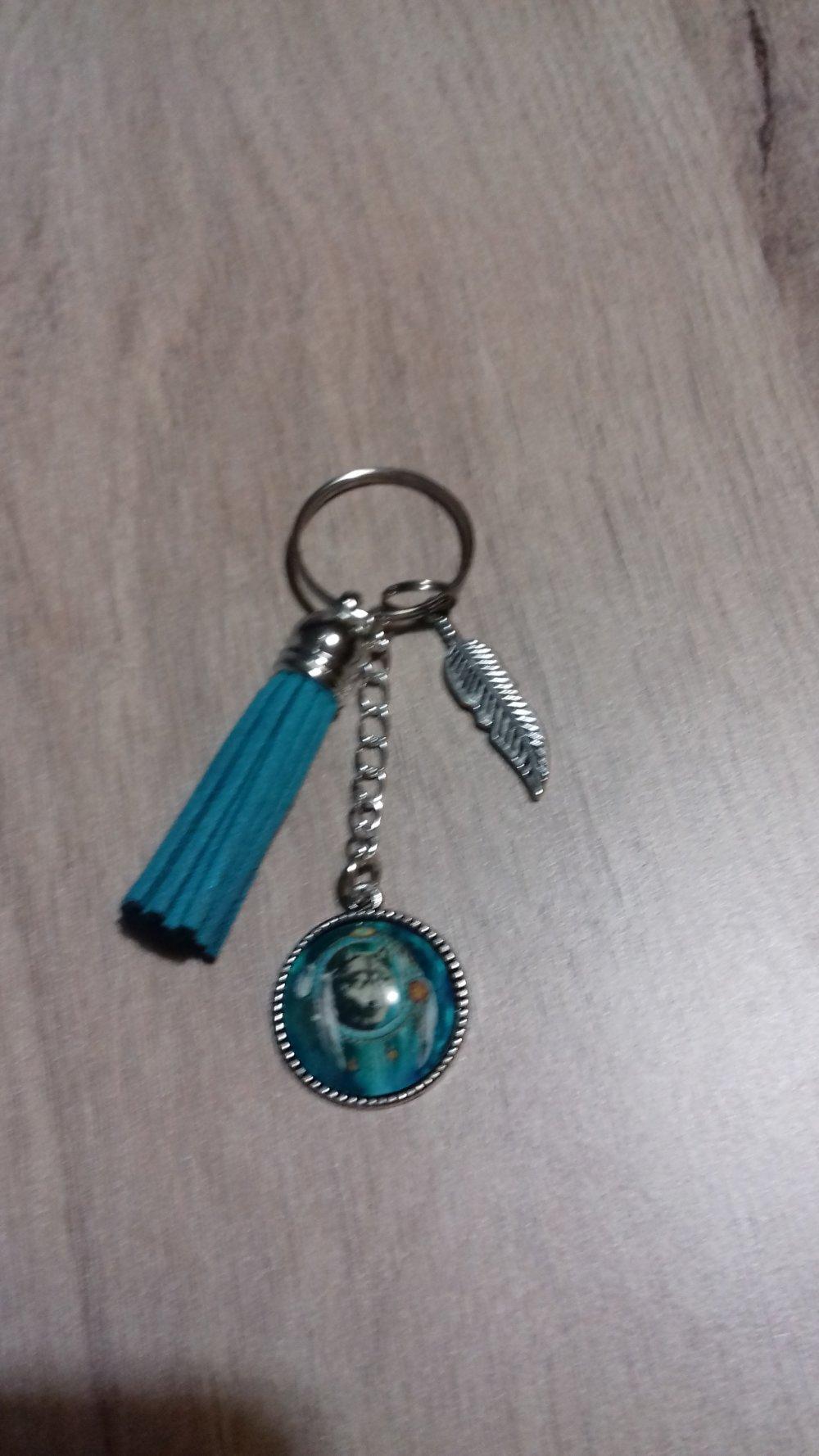 Porte clé, bijoux de sac avec cabochon