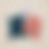 Doudou plat noeud avec attache tétine
