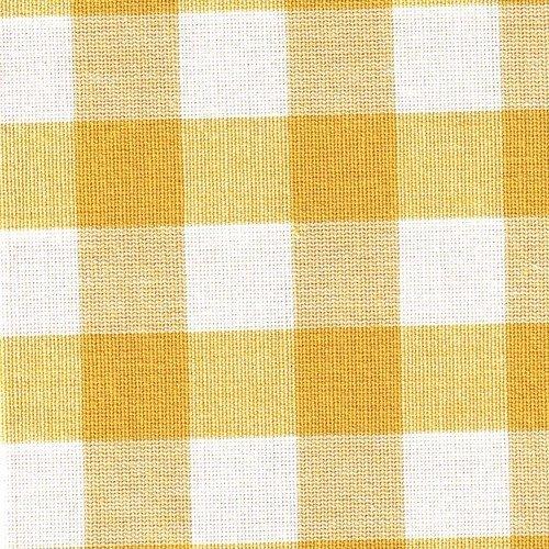 Tissu carreaux blanc/jaune réf.c1 50x50cm