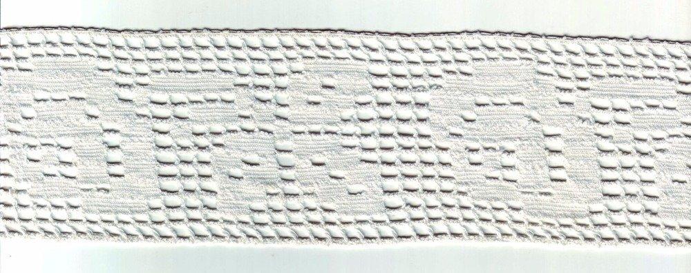Dentelle large 6,5cm Réf5 BLANC CASSÉ