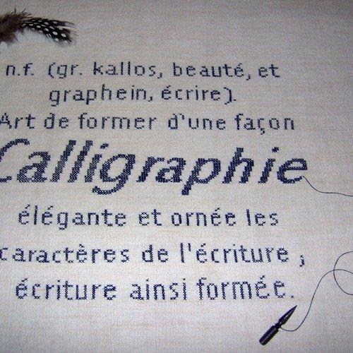 Fiche Diagramme Point De Croix Calligraphie Un Grand Marche